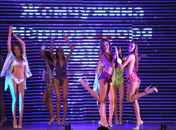 Účastnice 23. mezinárodní soutěže krásy Perla Černého moře v Sevastopolu. - Sputnik Česká republika
