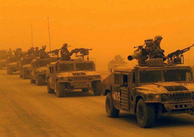 První průzkumný prapor 1. divize námořní pěchoty USA v Iráku