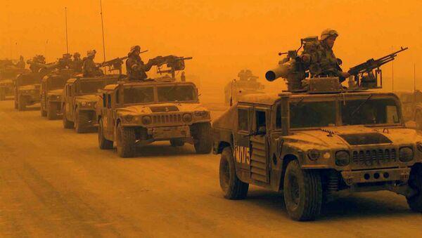 První průzkumný prapor 1. divize námořní pěchoty USA v Iráku - Sputnik Česká republika