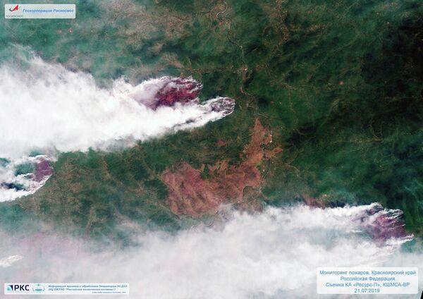Požár z pohledu ruské družice - Sputnik Česká republika
