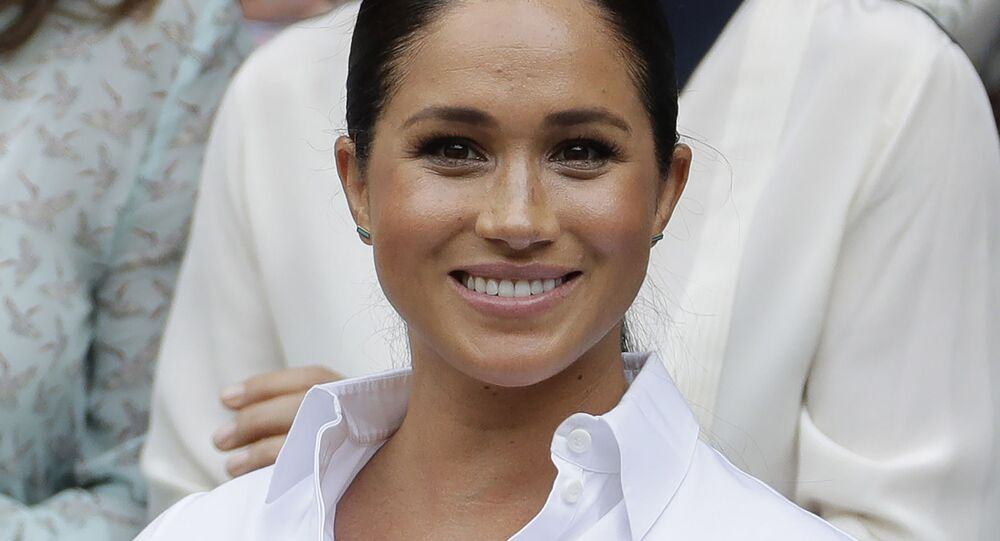 Vévodkyně ze Sussexu, manželka prince Harryho a bývalá herečka Meghan Markleová