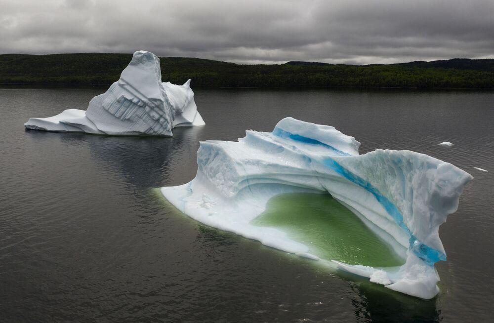 Ledovce v Newfoundlandu v Kanadě