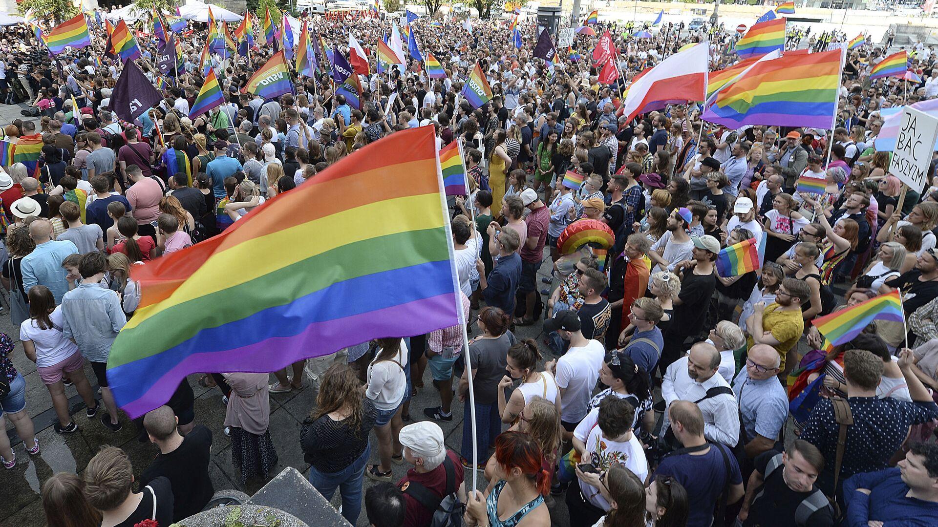 Demonstrace za práva LGBT - Sputnik Česká republika, 1920, 09.07.2021