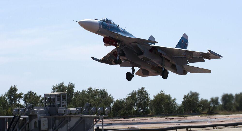 Bojový Su-33 na Krymu