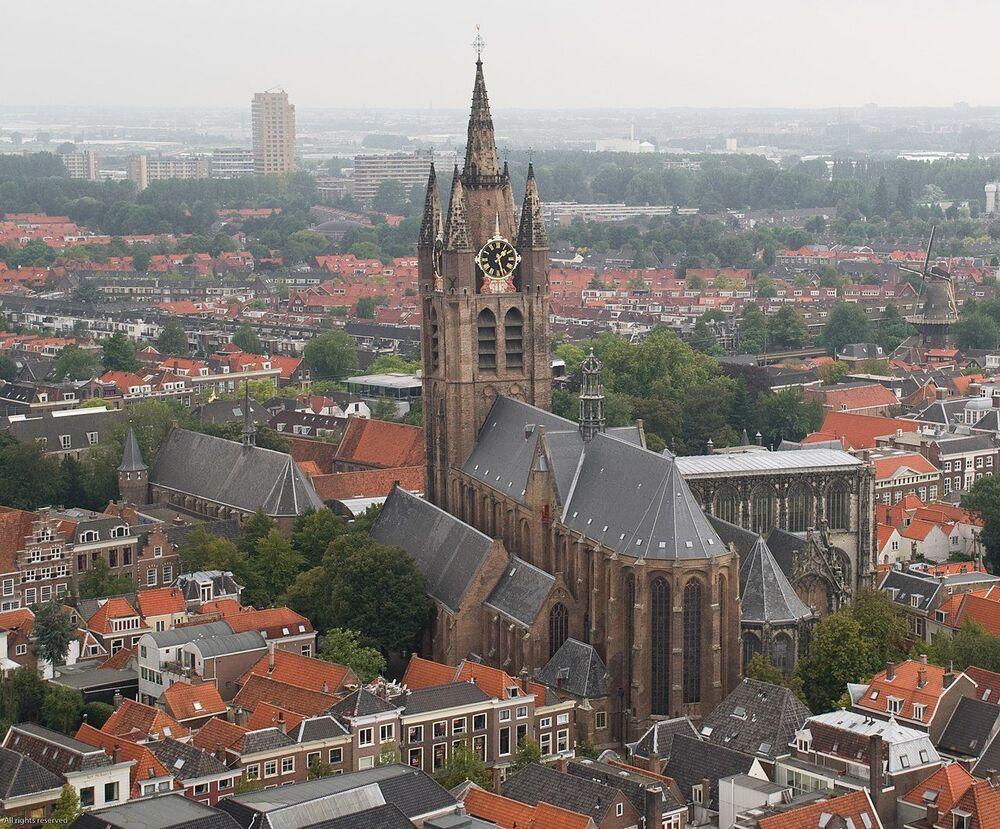 Kostel Oude Kerk, Delft, Nizozemsko