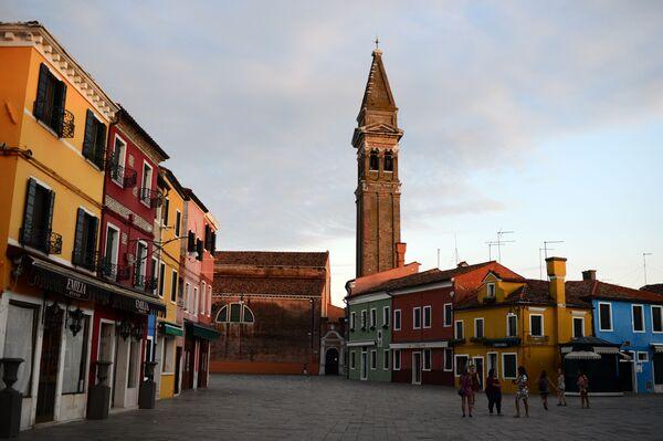 Věž kostela San Martino, Benátky, Itálie - Sputnik Česká republika