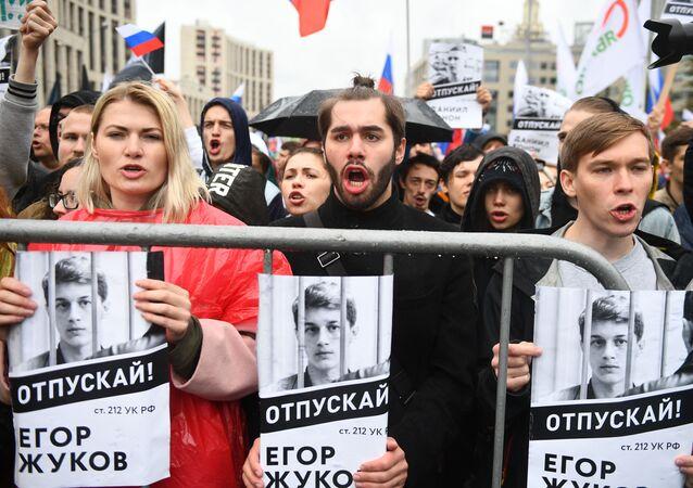 Schvalený mítink v Moskvě
