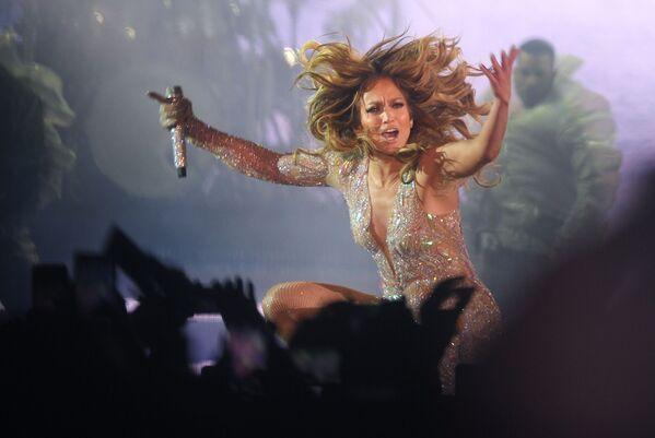 Americká zpěvačka Jennifer Lopezová na koncertu v Moskvě. - Sputnik Česká republika