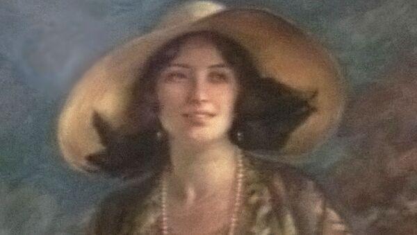 Na obrázku je suchým pastelem vyvedena Wilhelmine von Fürstenberková. Fotografie obrazu vznikla před mnoha lety během prohlídky hradu Křivoklát. Je to jeden z nejhezčích portrétů na našich hradech a zámcích vůbec.  - Sputnik Česká republika