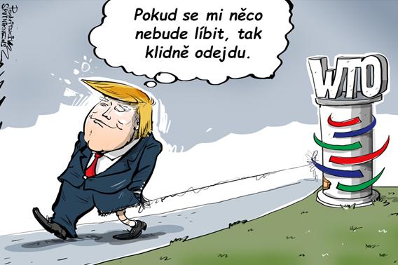 Trump nevyloučil odchod z WTO