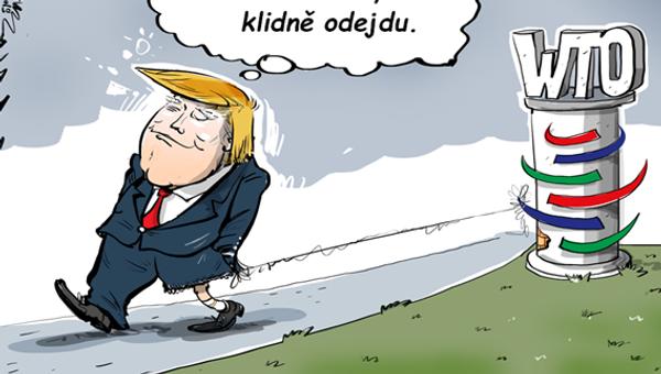 Trump nevyloučil odchod z WTO - Sputnik Česká republika