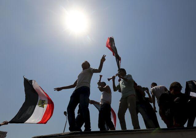 Egypťané slaví otevření Suezského průplavu