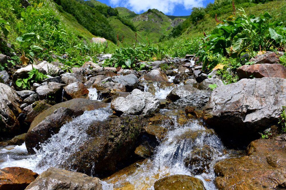 Alpský terén a silné srážky pomohly vytvořit příznivé podmínky pro vytvoření mnoha jezer, řek a vodopádů.