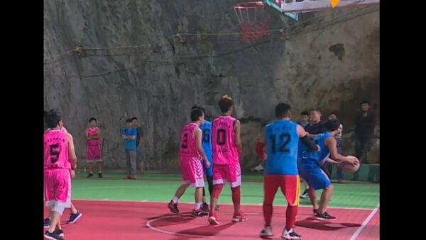 Basketbal v jeskyni: unikátní tělocvična v Číně - Sputnik Česká republika