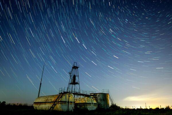 Hvězdné nebe během meteorického roje Perseidy, Krasnodarský kraj, Rusko. - Sputnik Česká republika