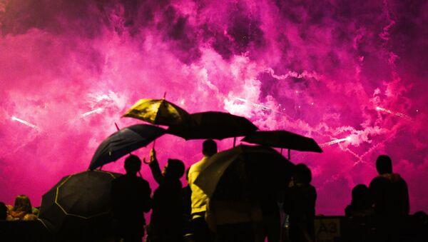 Ohňostroje na mezinárodním festivalu Rostěсh v Moskvě - Sputnik Česká republika