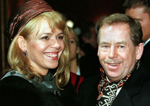 Český prezident Václav Havel s manželkou Dagmar