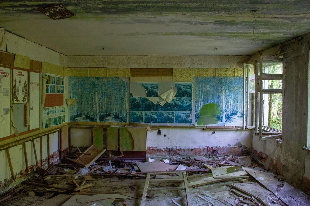 Leninovy pokoje stále chrání stopy přítomnosti vojáků.