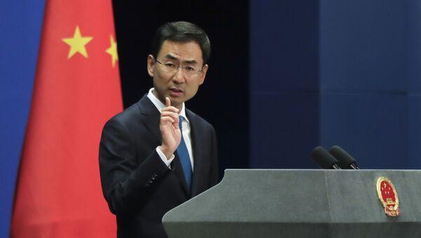 Mluvčí ministerstva zahraničí Číny Gen Shuang - Sputnik Česká republika