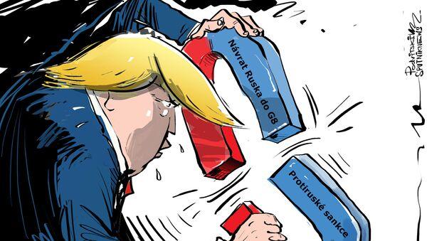 Trump chce vrátit Rusko do G8, ale co sankce? - Sputnik Česká republika