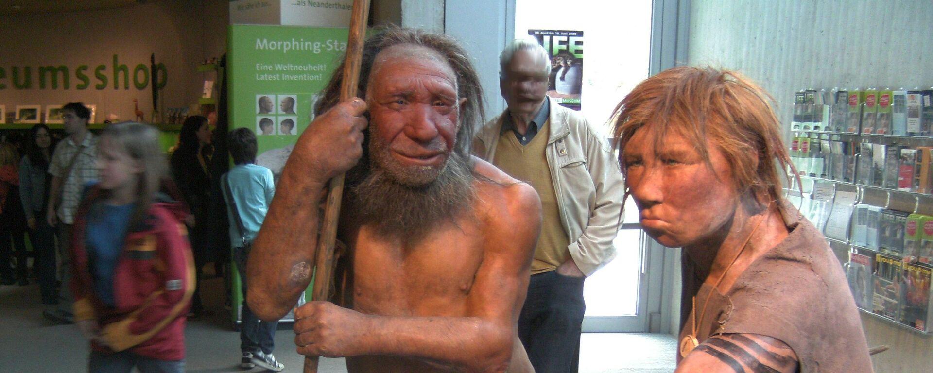 Model neandertálců (Muzeum Neanderthal, Německo) - Sputnik Česká republika, 1920, 06.08.2021