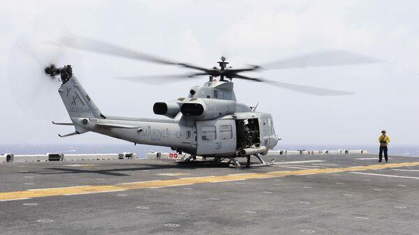 Americký vrtulník UH-1Y Venom - Sputnik Česká republika