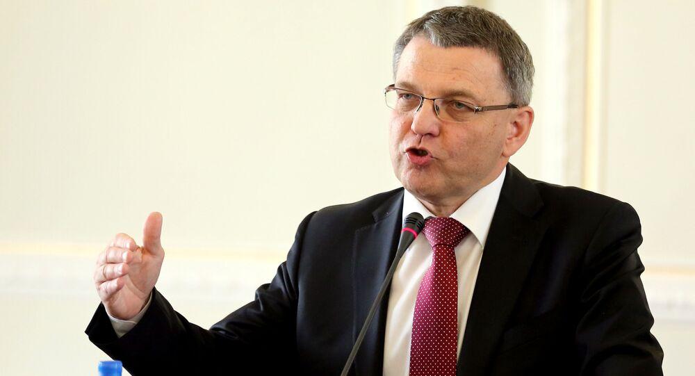 Exministr zahraničních věcí Sobotkovy vlády Lubomír Zaorálek