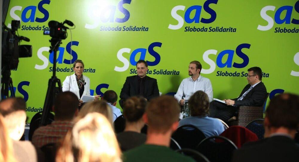 Politická strana SaS. Ilustrační foto