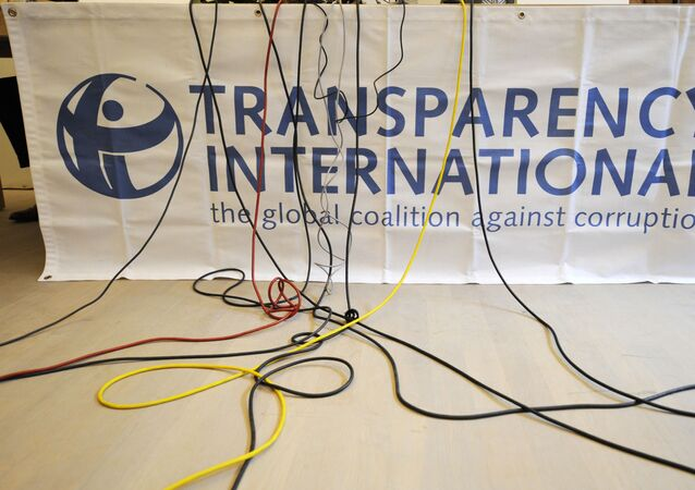 Logo organizace Transparency International