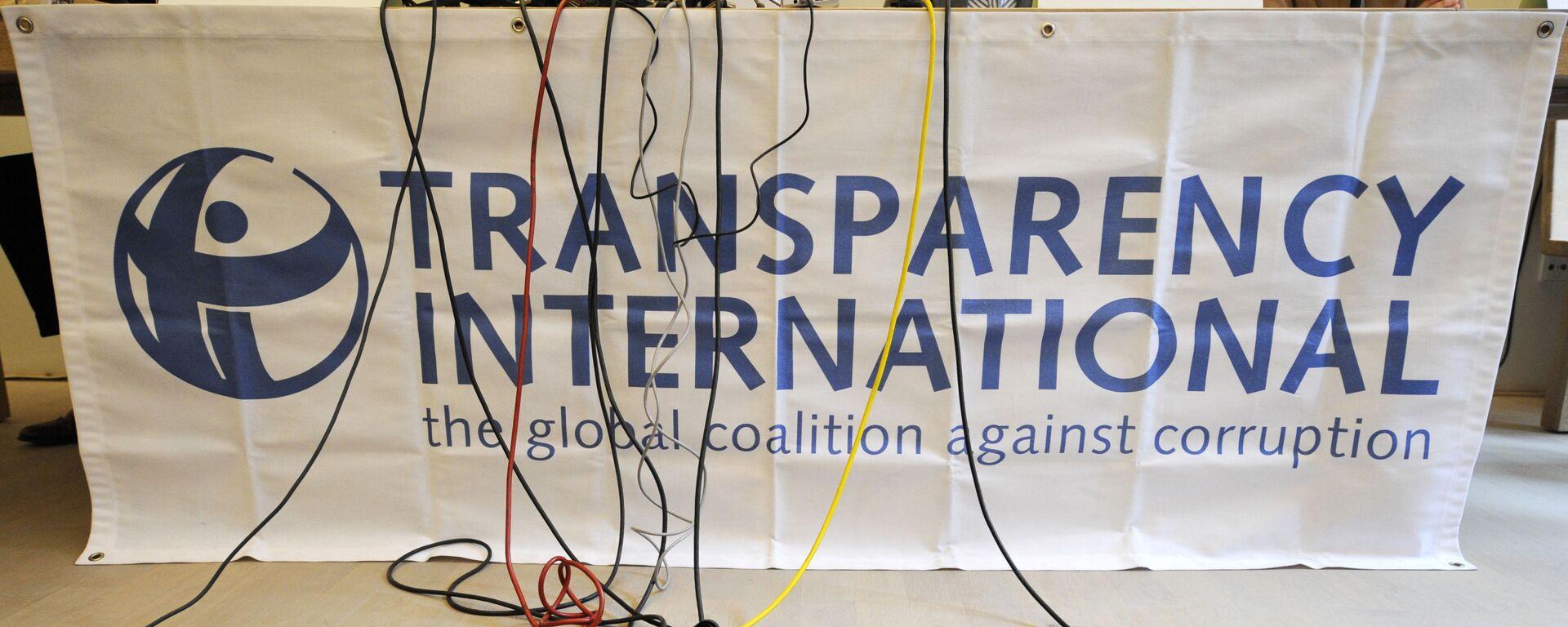 Logo organizace Transparency International - Sputnik Česká republika, 1920, 14.07.2021