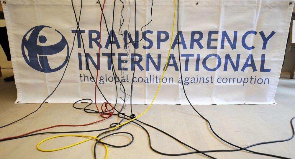 Logo organizace Transparency International