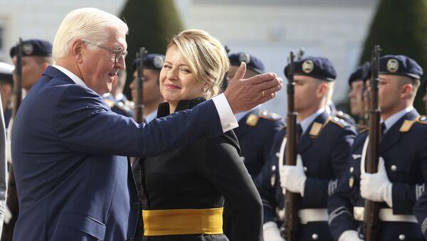 Prezidentka Slovenska Zuzana Čaputová a německý prezident Frank-Walter Steinmeier - Sputnik Česká republika