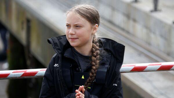 Klimatická aktivistka Greta Thunbergová  - Sputnik Česká republika