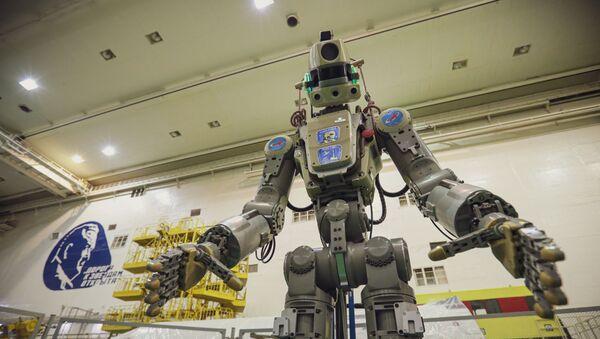 Příprava robota FEDROa Skybot F-850 na Bajkonuru - Sputnik Česká republika