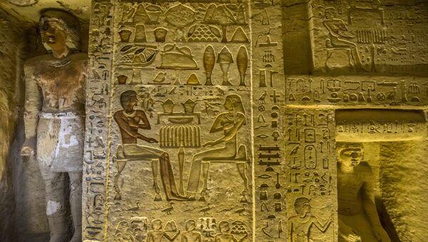 Objevená hrobka staroegyptského kněze pocházející z doby panování 5. dynastie faraona Neferirkareho - Sputnik Česká republika
