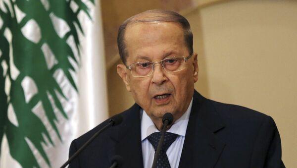 Libanonský prezident Michel Aoun - Sputnik Česká republika