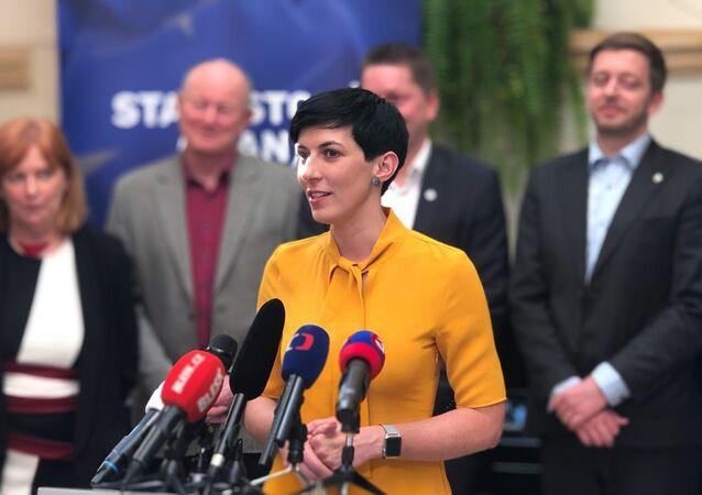 Předsedkyně politické strany TOP 09 Markéta Pekarová Adamová