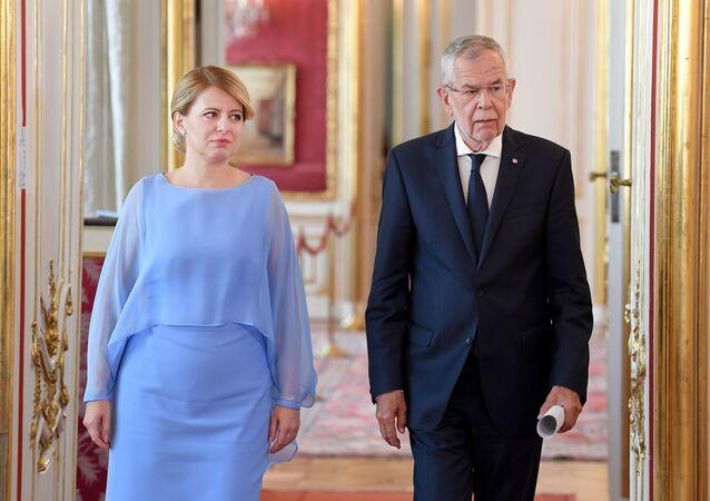 Setkání slovenské prezidentky Zuzany Čaputové a rakouského prezidenta Alexandera Van der Bellena