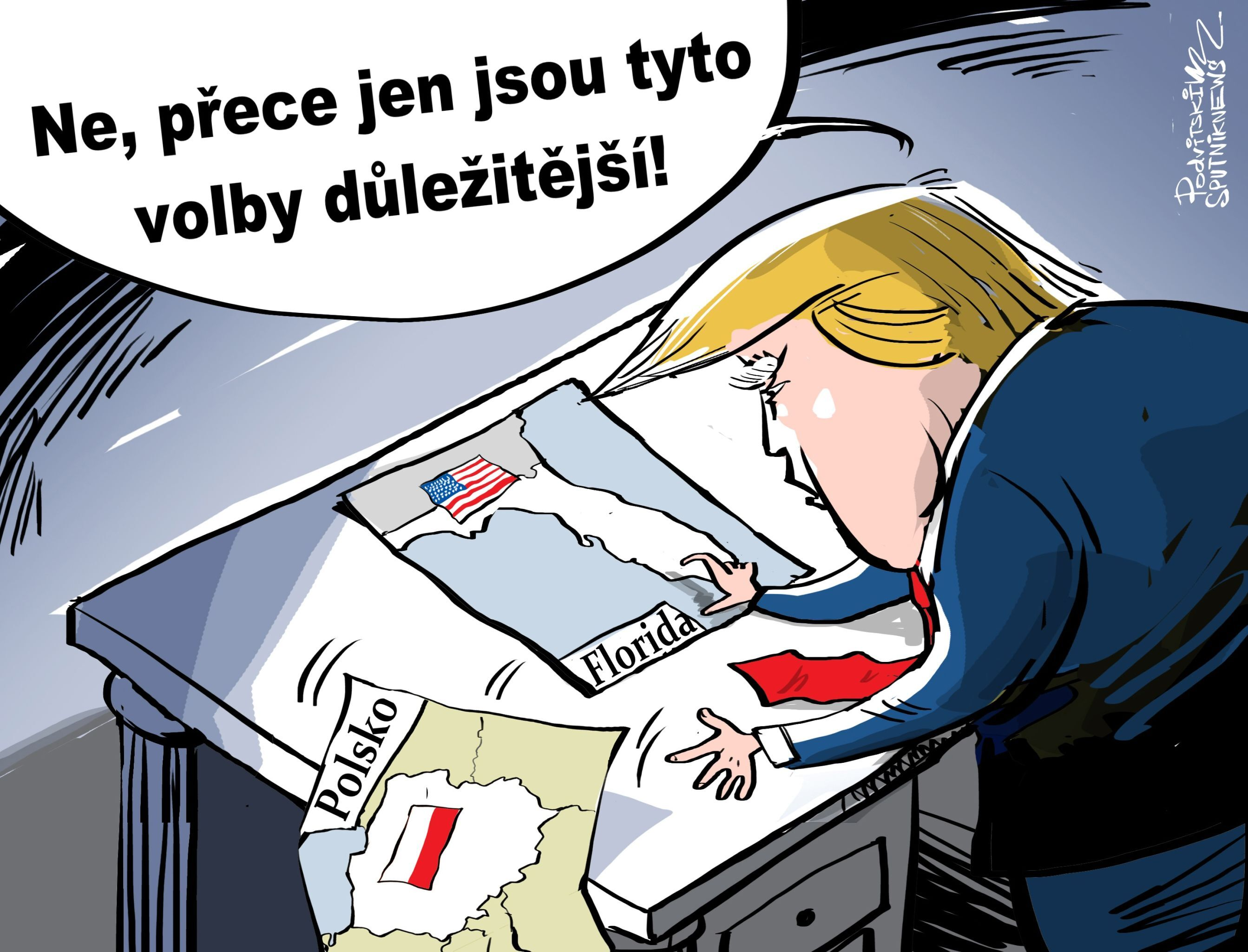 Trump kvůli hurikánu nepoletí do Polska