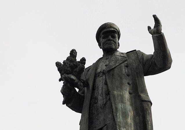 Socha marsála Koněva v Praze