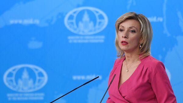 Oficiální mluvčí ruského ministerstva zahraničí Maria Zacharovová. - Sputnik Česká republika