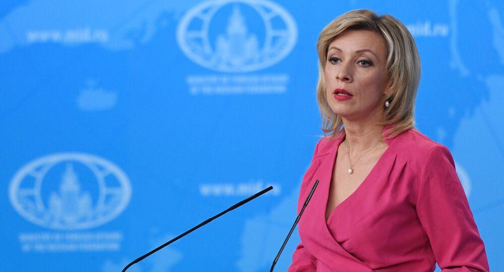 Oficiální mluvčí ruského ministerstva zahraničí Maria Zacharovová.