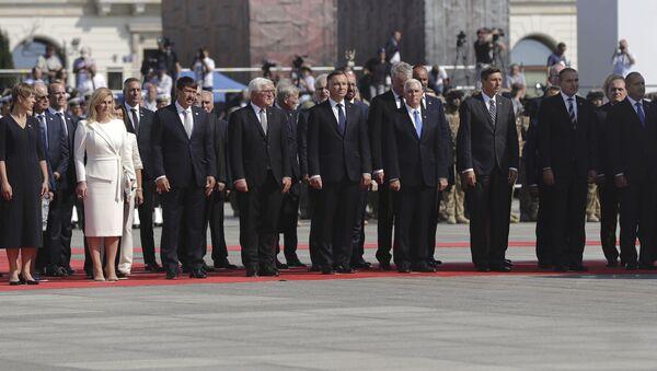 Hosté během vzpomínkové akce u příležitosti 80. výročí začátku 2. světové války. Varšava, Polsko. - Sputnik Česká republika