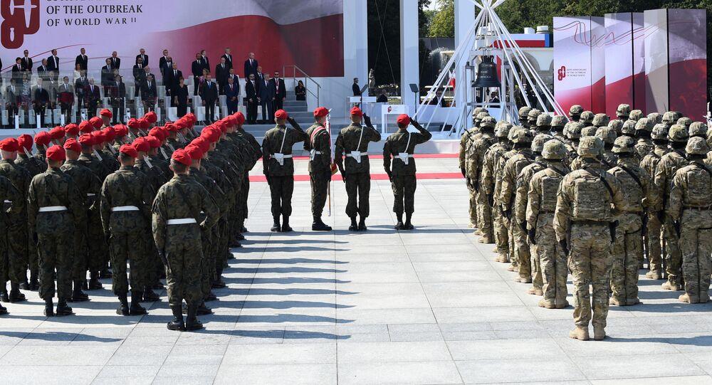 Připomínková akce ve Varšavě u příležitosti 89. výročí vypuknutí druhé světové války