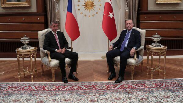 Andrej Babiš a Recep Tayyip Erdogan. Ankara, 3. září 2019 - Sputnik Česká republika