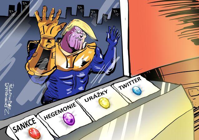 Írán už má po krk Trumpa v roli Thanose