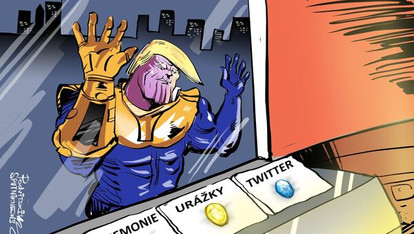 Írán už má po krk Trumpa v roli Thanose - Sputnik Česká republika