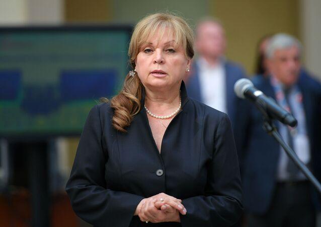 Předsedkyně Ústřední volební komise Ruska Ella Pamfilovová