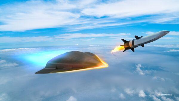 Obrazek hypersonické zbraně, kterou vyvije společnost Raytheonem pro Ministerstvo obrany USA - Sputnik Česká republika