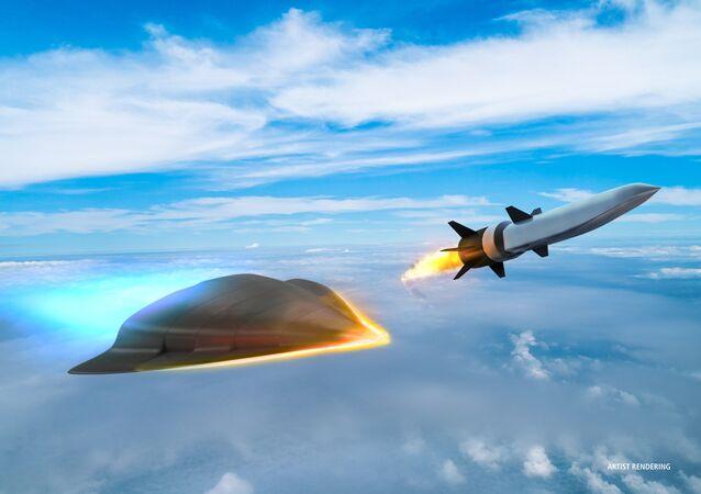 Foto hypersonické zbraně, kterou vyvíjí společnost Raytheonem pro Ministerstvo obrany USA.
